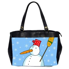 Snowman Office Handbags (2 Sides)  by Valentinaart
