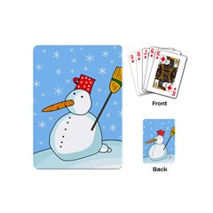Snowman Playing Cards (mini)  by Valentinaart