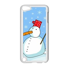 Snowman Apple Ipod Touch 5 Case (white) by Valentinaart