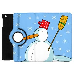 Snowman Apple Ipad Mini Flip 360 Case by Valentinaart