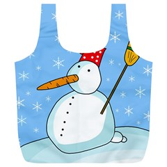 Snowman Full Print Recycle Bags (l)