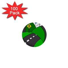 Hit The Road 1  Mini Buttons (100 Pack)  by Valentinaart