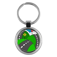 Hit The Road Key Chains (round)  by Valentinaart