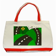 Hit The Road Classic Tote Bag (red) by Valentinaart