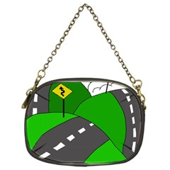 Hit The Road Chain Purses (two Sides)  by Valentinaart