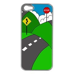 Hit The Road Apple Iphone 5 Case (silver) by Valentinaart