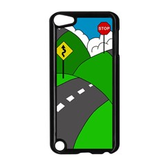 Hit The Road Apple Ipod Touch 5 Case (black) by Valentinaart