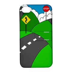 Hit The Road Apple Iphone 4/4s Hardshell Case With Stand by Valentinaart