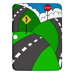 Hit The Road Samsung Galaxy Tab 3 (10 1 ) P5200 Hardshell Case  by Valentinaart