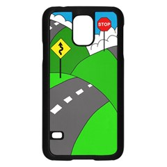 Hit The Road Samsung Galaxy S5 Case (black) by Valentinaart