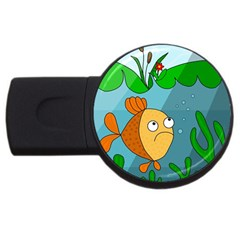 Are You Lonesome Tonight Usb Flash Drive Round (2 Gb)  by Valentinaart