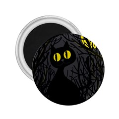 Black Cat   Halloween 2 25  Magnets by Valentinaart