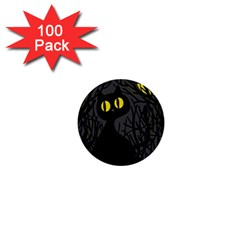 Black Cat   Halloween 1  Mini Buttons (100 Pack)  by Valentinaart