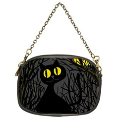 Black Cat   Halloween Chain Purses (one Side)  by Valentinaart