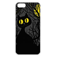 Black Cat - Halloween Apple Iphone 5 Seamless Case (white) by Valentinaart