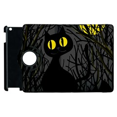 Black Cat   Halloween Apple Ipad 3/4 Flip 360 Case by Valentinaart