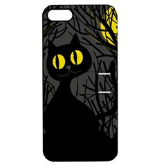 Black Cat   Halloween Apple Iphone 5 Hardshell Case With Stand by Valentinaart