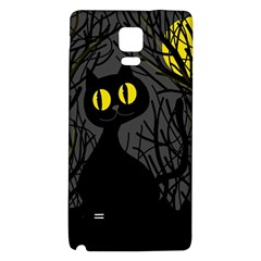 Black Cat   Halloween Galaxy Note 4 Back Case by Valentinaart