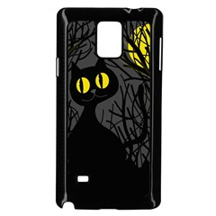 Black Cat - Halloween Samsung Galaxy Note 4 Case (black) by Valentinaart