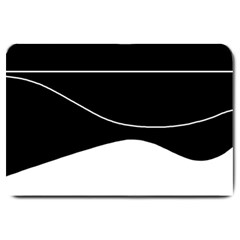 Black And White Large Doormat  by Valentinaart