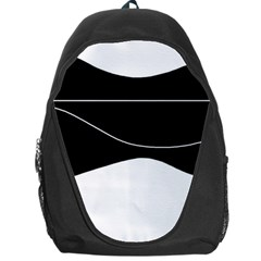 Black And White Backpack Bag by Valentinaart