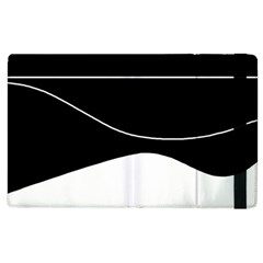 Black And White Apple Ipad 3/4 Flip Case by Valentinaart