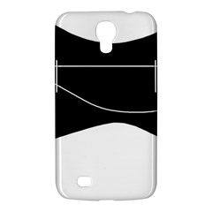 Black And White Samsung Galaxy Mega 6 3  I9200 Hardshell Case by Valentinaart