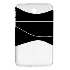 Black And White Samsung Galaxy Tab 3 (7 ) P3200 Hardshell Case  by Valentinaart
