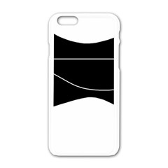 Black And White Apple Iphone 6/6s White Enamel Case by Valentinaart