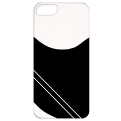 White And Black Abstraction Apple Iphone 5 Classic Hardshell Case by Valentinaart