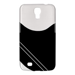White And Black Abstraction Samsung Galaxy Mega 6 3  I9200 Hardshell Case by Valentinaart