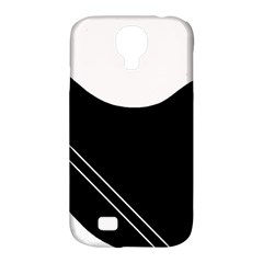 White And Black Abstraction Samsung Galaxy S4 Classic Hardshell Case (pc+silicone) by Valentinaart