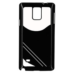 White And Black Abstraction Samsung Galaxy Note 4 Case (black) by Valentinaart