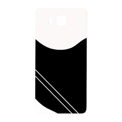 White And Black Abstraction Samsung Galaxy Alpha Hardshell Back Case by Valentinaart