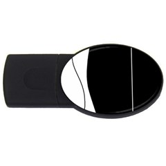 White And Black 2 Usb Flash Drive Oval (2 Gb)  by Valentinaart