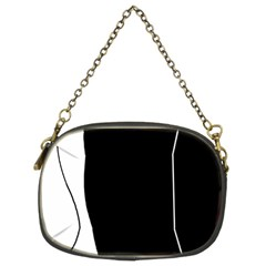 White And Black 2 Chain Purses (two Sides)  by Valentinaart