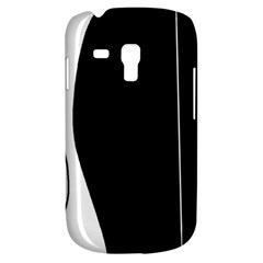 White And Black 2 Samsung Galaxy S3 Mini I8190 Hardshell Case by Valentinaart