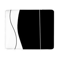 White And Black 2 Samsung Galaxy Tab Pro 8 4  Flip Case by Valentinaart