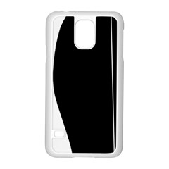 White And Black 2 Samsung Galaxy S5 Case (white) by Valentinaart