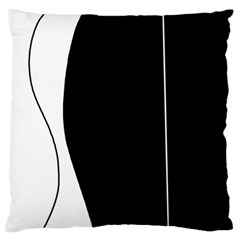 White And Black 2 Standard Flano Cushion Case (one Side)
