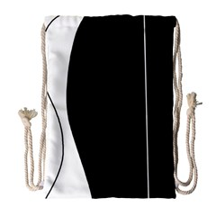 White And Black 2 Drawstring Bag (large) by Valentinaart