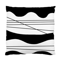 White And Black Waves Standard Cushion Case (two Sides) by Valentinaart
