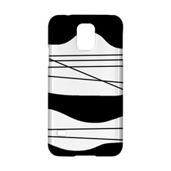 White And Black Waves Samsung Galaxy S5 Hardshell Case  by Valentinaart