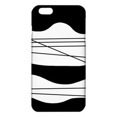 White And Black Waves Iphone 6 Plus/6s Plus Tpu Case by Valentinaart