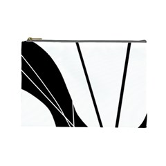 White And Black  Cosmetic Bag (large)  by Valentinaart