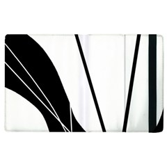 White And Black  Apple Ipad 2 Flip Case by Valentinaart