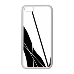 White And Black  Apple Iphone 5c Seamless Case (white) by Valentinaart