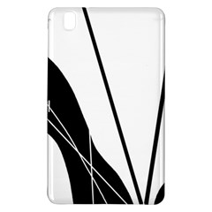 White And Black  Samsung Galaxy Tab Pro 8 4 Hardshell Case by Valentinaart