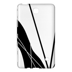 White And Black  Samsung Galaxy Tab 4 (7 ) Hardshell Case  by Valentinaart