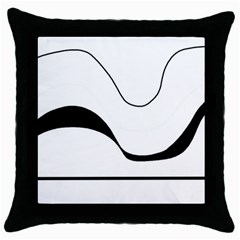 Waves   Black And White Throw Pillow Case (black) by Valentinaart